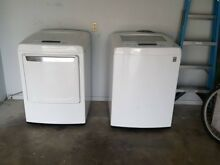 LG WT1101CW 27    4 1 Cu Ft Energy Star Top Load Washer  Front load Dryer  White