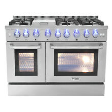 Gas Range 48  Thor HRG4808U Double Oven Stainless Steel Griddle 6 Burner Updates