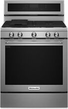New KitchenAid S D 30  5 Burner Gas Convection Range Stainless Steel KFGG500ESS