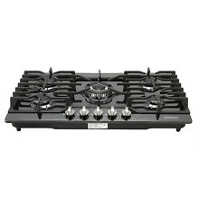 Branded 30 Built in Cooktop 5 Burners Stove LPG NG Gas Hob Cooker Black Titanium