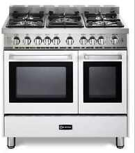 Verona VEFSGG365NDW 36  Pro Style All Gas Range Double Convection Oven White