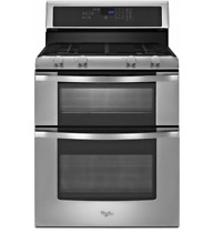 Whirlpool WGG555S0BS 30  Freestanding Stainless Steel Gas Double Oven Range New