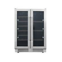 24 Thor 21 Bottles Wide Built In Dual Zone Wine   Beverage Cooler TWC2401DI
