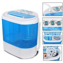 5 5 Lb Mini Washing Machine Gravity Drain Compact Twin Tub Washer Spinner