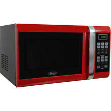 0 9 cu  ft  Office Microwave Oven 6 Programs Auto Defrost Horno Microondas Red