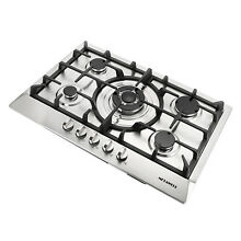 Modern 30  Stainless Steel 5 Burners Cooktop NG LPG Gas Hob Built In Stoves