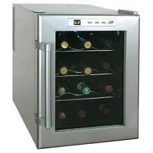 12 Bottle Wine Fridge Cooler Thermoelectric Countertop Chiller Cellar Small