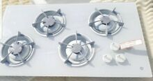 Ge White Glass Top Drop  in  or Counter Top Gas Stove with hook ups JPG653