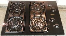 WHIRLPOOL GOLD GLT3014GB1 BEAUTIFUL BLACK GLASS GAS COOKTOP