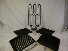 Jenn Air Grill  Grates and Rocks   5pc  Set for older downdraft range or cooktop