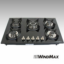 30inch Built in Tempered Glass 5 Burner Gas Cooktop Home Natural Liquid Gas Hob