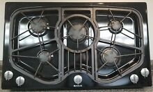 BEAUTIFUL BLACK JENN AIR 5 BURNER 36 INCH GAS COOKTOP JGC8536ADB
