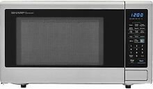 Sharp Carousel 1 8 cu  ft  Countertop Microwave in Stainless Steel