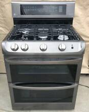 LG LDG4315BD 30  Black Stainless Double Oven Gas Range with ProBake Convection
