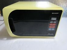 Vintage Yellow Sharp Munchkin Microwave 1987 R 3980Y Small  Apt    College Dorm