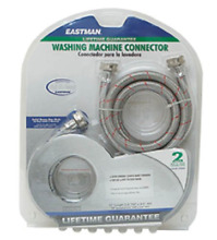 Eastman 41067 Braided Stainless Steel Washing Machine Hose  6 Ft Length  X