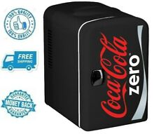 New Coca Cola Zero Portable Mini Fridge Refrigerator Small Soft Beverage Cooler