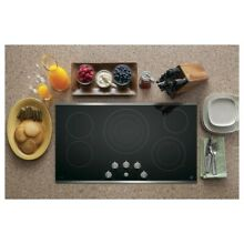 GE Profile Series PP7036SJSS 36  Built In Electric Cooktop