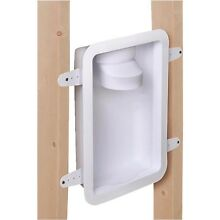Recessed Dryer Vent Box 4in  Wall Laundry Tubing Part w  Built In Draft Blocker