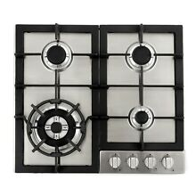 Cosmo 24 In  Gas Cooktop in Stainless Steel with 4 Sealed Burners