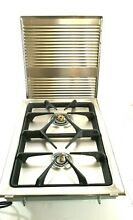 Gaggenau Vario Series VG353212 Natural Gas Cooktop Double Burner With Cover