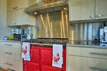 AGA 6 GAS burner stove  w stainless bar   13 500 USD RARE RED