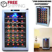 Thermoelectric Wine Cooler With Glass Door And Digital Temperature Control Panel
