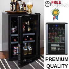 Wine Refrigerator Freestanding With 90 Can Storage Capacity For Chilled Drinks