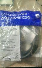 10 off GE Universal WX09X10020 4 Prong Wire 30 amp Dryer Power Cord 6 Feet