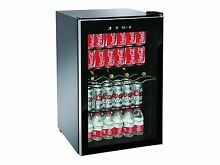 Beverage Center Refrigerator Cooler Glass Door Mini Fridge Wine Soda Compact