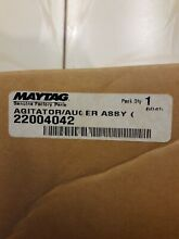 22004042 NEW Whirlpool Kenmore Maytag Washer Agitator Genuine OEM New In Box