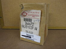 366672 Valve   NEW   nla whirlpool part washing machine kenmore