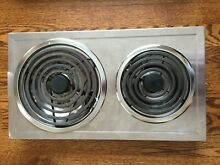 Jenn Air A100 2 Burner Electric Stove STAINLESS STEEL Cartridge   NICE condition
