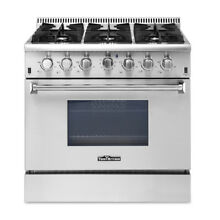 36  Thor Kitchen Gas Range HRG3618U Professional Stainless Steel w  6 Burners