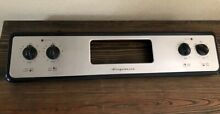 Genuine Frigidaire Range Stove Oven Control Panel Only w Knobs Stainless Black