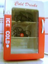 Coca Cola Mini Fridge Thermoelectric Cooler 120V AC 12v DC Holds 6 Cans