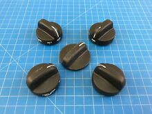 Genuine Whirlpool Range Oven Surface Burner Knob 3186134 3196064 Set of 5