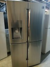 Nice Samsung 4 Door Counter Depth Refrigerator with 22 cu  ft  Capacity