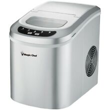 Magicchef Mcim22Sv Ice Maker 27 Lbs Day Portable Silver