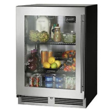 Perlick HC24RB 24  Stainless Steel Glass Door Undercounter Refrigerator New