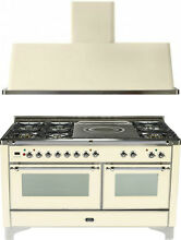 Ilve UM150SDMPAX Majestic 60  Dual Fuel Gas Range Oven French Top 2pc Package