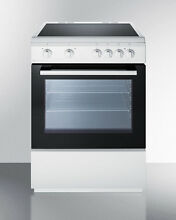 Summit CLRE24WH 24  Slide in Electric Range Oven Smoothtop Cooktop White