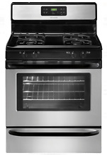 Frigidaire FFGF3023LS 30  Stainless Steel   Black 4 Burner Gas Range New