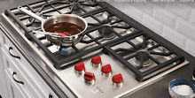 Wolf CG365PS Professional 36  Stainless Steel 5 Burner Gas Cooktop Demo