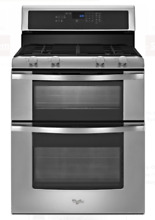 Whirlpool WGG555S0BS Stainless Steel Double Oven 4 Burner Gas Range Brand New