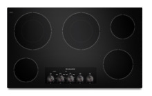 KitchenAid KECC662BBL 36  5 Burner Smooth Surface Electric Cooktop New