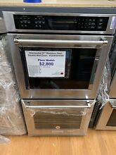 Kitchenaid 27  Stainless Steel Electric Double Convection Wall Oven Kode 507ESS