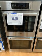 Bosch 800 Series HBN8651UC 27  Double Electric Wall Oven Stainless