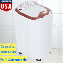 Portable Full Automatic Washing Machine Spin Wash 4 4Lbs Capacity Laundry Washer