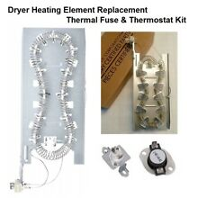 Dryer Heating Element Replacement Thermal Fuse   Thermostat Compatible 3387747
